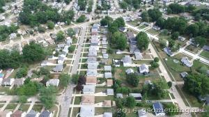 aerial photo of Willowick Ohio suburbs