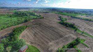 aerial drone photo of farm in Granger, Iowa