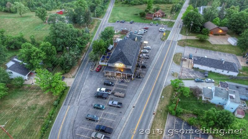 aerial drone photo of Capps Pizza Painesville, Ohio